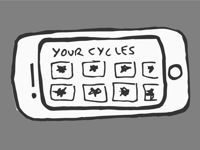 And the user may browse through her cycle archive at any time